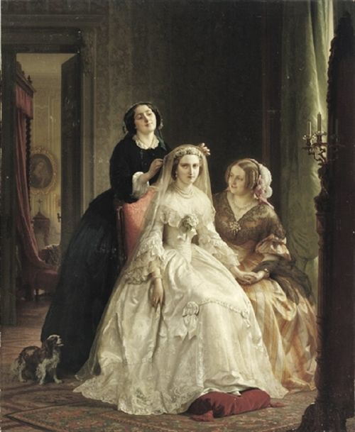 1858 Josephus Laurentius Dyckmans (Dutch artist, 1811-1888) The Bride